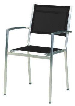 4 Seasons Outdoor Plaza stackable chair black