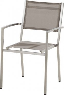 4 Seasons Outdoor Plaza stackable chair mocca