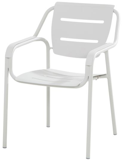 4 Seasons Outdoor Eco stacking diningchair seashell