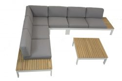 4 Seasons Outdoor Mistral hoekbank links 3 zits platform loungeset