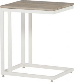 4 Seasons Outdoor Cancun support table white teak top