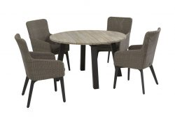 4 Seasons Outdoor luxor dining set with derby dining tafel