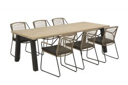 4 Seasons Outdoor Scandic tuinset met derby tafel