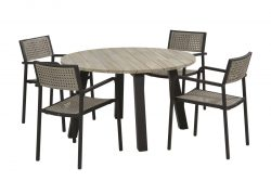 4 Seasons Outdoor Coruna diningset rond