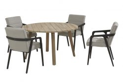 4 Seasons Outdoor aragon tuinset met derby tafel rond