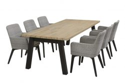 4 Seasons Outdoor Lisboa dining set met derby dining tafel