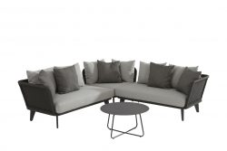4 Seasons Outdoor Belize hoekbank loungeset met dali tafel antraciet