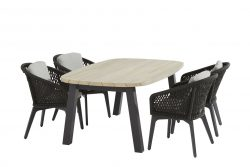 4 Seasons Outdoor Belize eetset met derby tafel