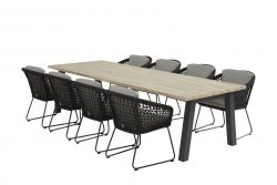 4 Seasons Outdoor Mila eetset derby tafel 300 x 95 cm