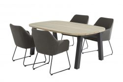 4 Seasons Outdoor Amora derby ellipse eettafel