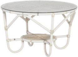 4 Seasons Outdoor Olivia coffee table with shelf, with glass