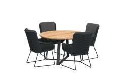 4 Seasons Outdoor Wing dining set with Basso 130 cm