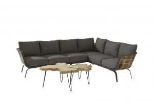 4 Seasons Outdoor antibes loungeset met summatra bijzettafel