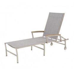 4 Seasons outdoor Nexxt sunbed ash grey