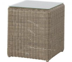 4 Seasons outdoor wales end table pure