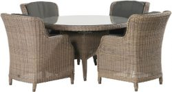 4 Seasons Outdoor Brighton dining set pure