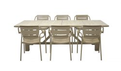 4 Seasons Outdoor Eco dining table taupe