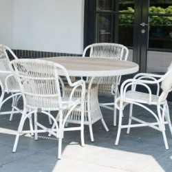 4 Seasons Outdoor Loire dining chair met Loire tafel