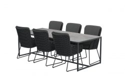 Outdoor Wing dining set Quatro with HPL top