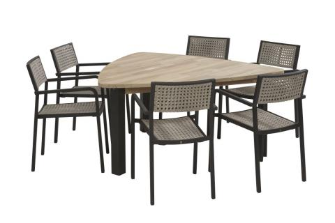 4 Seasons Outdoor Coruna dining set met derby triangle tafel