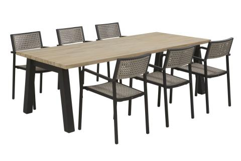 4 Seasons Outdoor Coruna dining set