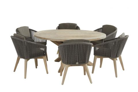 213384-90115_ Santander dining set with Louvre round Teak table 160cm 01