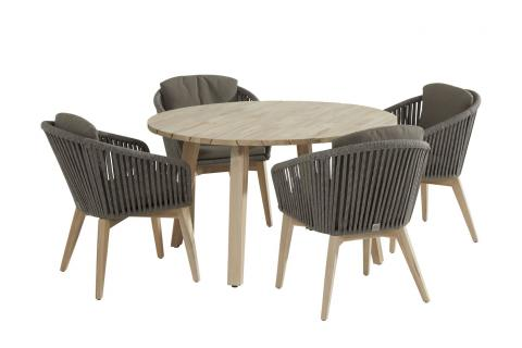213384-90413-90414_ Santander dining set with Derby round Teak table 130cm 01