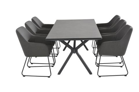4 Seasons Outdoor Amora eetset met conrad tafel