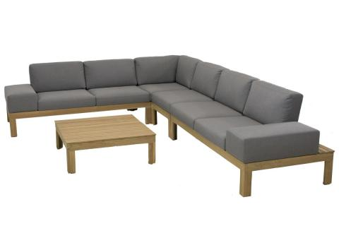 4 Seasons Outdoor Mistral teak loungeset 4 Seasons Outdoor mistral teak hoekbank