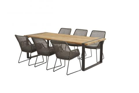 4SO Babilonia eetset met Alto tafel van 4 seasons outdoor