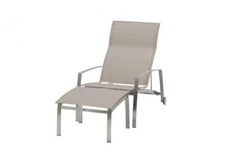 4 Seasons Outdoor Summit stainless steel deckchair