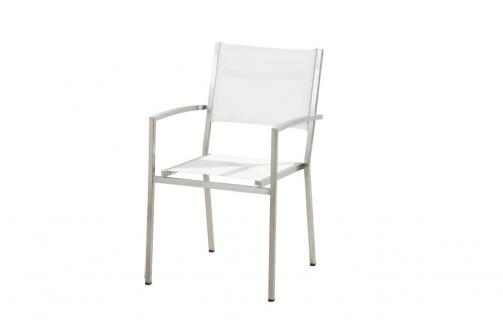 4 Seasons Outdoor Plaza stackable chair white
