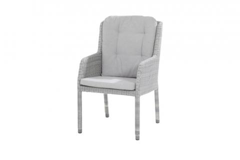 4 Seasons Outdoor Amalfi dining chair with 2 cushions ice